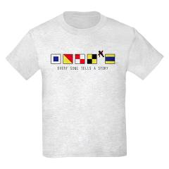 Children's US Navy Ship Flags T-Shirt (Light)